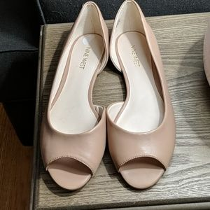 Nine West Nude Peep Toe Flats